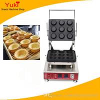 NP-814 Ticari 9 adet Yumurta Tart Kabuk Makinesi Baskı Peyniri Tart Kabuk Yapma Makinesi Küçük Tartet Shell Maker