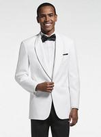 تصميم جديد العريس البدلات الرسمية زر واحد الأبيض شال التلبيب رفقاء العريس أفضل رجل بدلة رجل الدعاوى الزفاف (سترة + سروال + التعادل) رقم: 1082