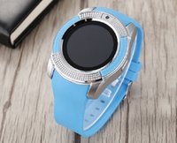 V8 Smart Watch Fashion Sports Pedometer independent Card Blu...
