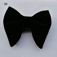 2018 Hot Fashion BlackVelvet Bowties Hombre Único Tuxedo Terciopelo Bowtie Bow Tie