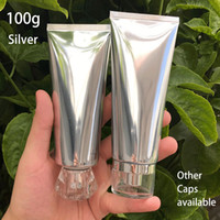 High Quality 100ml Silver Plastic Soft Tube 100g Cosmetic Lo...