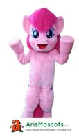 100% real photos Adult Size Blue Pony Pinkie Pie suit mascot...
