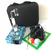 Quartz BANGER E ongles Installez Kits PID Température Contrôleur Électrique Boîte à ongles DAB 14mm 18mm 2in1 avec chauffage de bobine 20mm