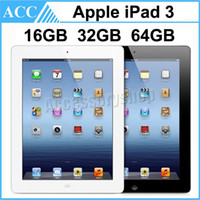Rinnovato originali per iPad 3 Wi-Fi versione da 16GB 32GB 64GB da 9.7 pollici di IOS Dual Core 1.0 GHz A5X Chipset Tablet PC DHL 1pcs