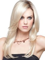 Z&F Gold Wig 18 inch Ombre Medium Wigs Fashion Wigs Long Cur...