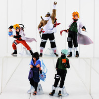 5pcs / lot Anime Naruto Shippuden Figure Jouet Kakashi Minato Sasuke Tueur Abeille Modèle Poupée pour Enfants