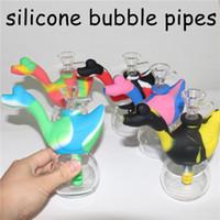 Swan Silicone Bubble Pipa ad acqua per il fumo secco Herb Unbreakable Water Percolator Bong Fumo concentrato di olio Tubo di fumo mini dab rigs