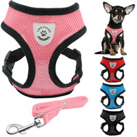 Breathable Mesh Small Dogs Pet Harness and Leash Set Puppy V...