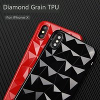 IPhoneX Main Apple X Mill Finition Diamants Grain TPU Mobile Téléphone Ensemble 3D Prism Soft Shell Matière Source IPhone8