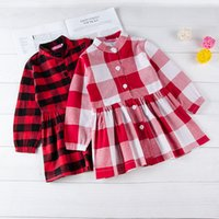 Autumn Kid Baby Girls Dress Christmas Plaid Tutu Dress Four ...