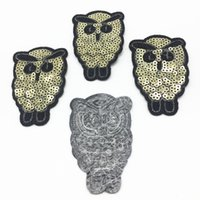 10pcs Gold Sequins Patches For Clothing Owls Sew On Embroide...