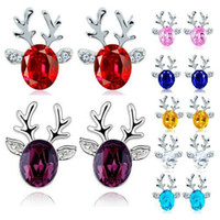 2019 accessories 5 colors crystal jewelry earrings luxury st...