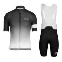 새로운 Rapha 사이클링 유니폼 여름 스타일 남성 MTB 자전거 Ropa Ciclismo 사이클링 셔츠 + 3D 젤 패딩 턱받이 반바지 82316J