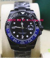 """Orologi di lusso di alta qualità NUOVO II Guarda 116710 """"BATMAN"""" orologio da polso da uomo automatico di moda in ceramica nera BLU"""