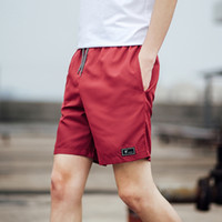 Casual Shorts Men Breathable Red Shorts Male Elastic Waist B...