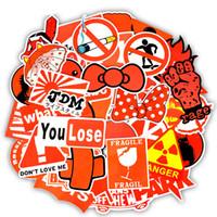 50 قطع للماء الأحمر نمط مضحك ملصقات لعب للأطفال jdm الشارات diy للأقراص محمول الجليد سيارة الأمتعة سكيت الدراجة النارية