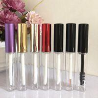 5ML plastique Lip Gloss Tube avec Noir / Violet / Or / Argent Couvercle Maquillage vide lèvres Huile Container Chapstick Baume Lèvres Tube