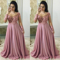 Fashion Lace Mother Of The Bride Dresses With Long Sleeves S...