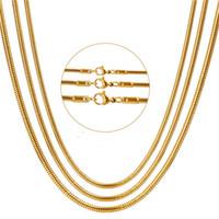 Comercio al por mayor 2 MM 3 MM 316L de Acero Inoxidable Collar de Cadena de Serpiente de Oro Accesorios Del Partido de La Manera de La Joyería Para Las Mujeres y Hombres Colgante Apto Envío Gratis