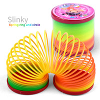 Kids toys Magic Plastic Slinky Rainbow Spring Colorful New C...