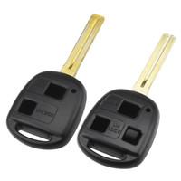 2/3 Button ersättning Fjärrbil nyckel Shell Fob Toy48 Uncut Blade för Toyota Yaris Avalon Camry Rav4 Corolla Echo Lexus