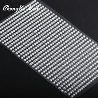 Çapı 3mm 750 adet / levha Beyaz Flatback Taklit Inci Çıkartmalar Kendinden Yapışkanlı Nail art DIY telefon Için kişiselleştirilmiş