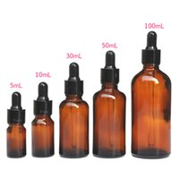 5-100ML Reagent Eye Dropper Drop Amber Glass Aromatherapy Liquid Pipette Bottle SSwell