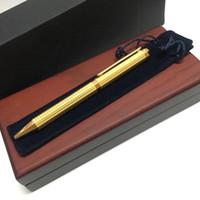 أزياء القلم هدية من ركلة جزاء المعدنية سداسي شبكة متقلب صندوق من الخشب الأحمر الكلاسيكي قلم حبر جاف للكتابة