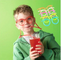 Hot! Funny Soft Glasses Straw Unique Flexible Drinking Tube ...
