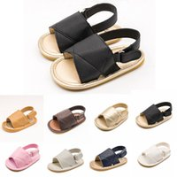 2018 hot kids shoes Soft rubber sandals PU material baby sho...