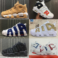 UK France GOLD Tri-Color Flax Air più Uptempo QS Olympic Varsity Gym Rosso Nero Mens Airs 3M Scottie Scarpe casual Taglia 36-47