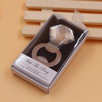 Abrebotellas anillo de diamantes en forma de herramienta de la aleación del banquete de boda del cumpleaños de la fiesta de bienvenida al bebé Favor regalo Recuerdos abrebotellas