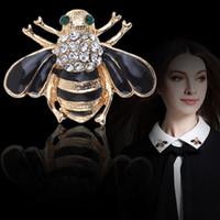새 도착 여자 동물 브로치 핀 블랙 Drips 귀여운 꿀벌 브로치 여자와 아이들을위한 선물 소년 꿀벌 broches mujer 브로치