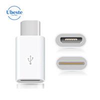 Ubeste Yüksek kalite Cep Telefonu Adaptörü 1000 adet Mikro USB usb 3.1 tip C Konektörü Dönüştürücü Adaptör Için MacBook oneplus 2