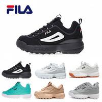 FILA Nuevas zapatillas TODO blanco Negro Arena gris Oro II 2 S Mujer hombre  diseñador zapatos 2913fb9672c15