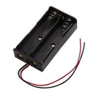 Double fente 18650 boîte de stockage de batterie cas 2 * 18650 piles titulaire bricolage banque de logement de banque de puissance avec fil goupille