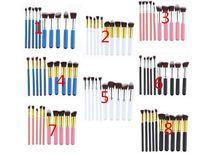 10PCS كابوكي ماكياج فرش مجموعة أدوات أدوات ماكياج الوجه فرشاة التجميل مع النايلون الشعر ماكياج أعلى جودة