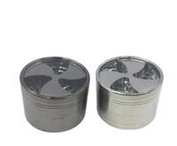 Schiebedach fan blade geraucht zink-legierung vier schicht klee durchmesser 63 MM zigarettenrauch metall rauch