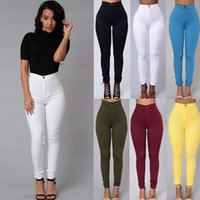 Women Pencil Stretch Casual Look Denim Skinny Jeans Pants Hi...