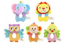 Bebé recién nacido juguetes de peluche animales de dibujos animados de animales bebé niño niña sonajeros campanilla de mano sonajeros infantil niño juguetes de peluche regalos de los niños
