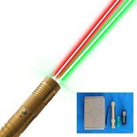 멀티 컬러 레이저 빨강 및 녹색 콤보 레이저 포인터 손전등 5000m 최고의 선물 선택