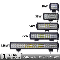 18w 36w 54w 72w 108w LED Bar for Offroad Car 4WD Truck Tract...