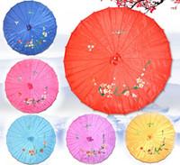 Ombrelli artigianali Fiori dipinti a mano Ombrello cinese Parasole in tessuto di seta per la festa di nozze