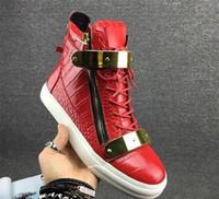 152e4abc90766 Novo Clássico Homem Mulheres Sapatos De Couro Genuíno Moda Plana Luxo Alta  Top Lace Up Sapatos