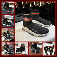 18ss New Luxury Paris Speed ​​Trainer Stretch Knit Sock Donna Uomo Uomo Designer Running Scarpe da ginnastica Sneakers Taglia 35-45