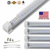 luces de la tienda LED de 8 pies Forma blanco frío 6500K V T8 8 pies 72Watt Integrado Tubo de luz LED lados dobles 4 pies Tubo Bombilla