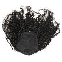 3B 3C clip rizado rizado en cola de caballo extensiones de cabello humano productos para el cabello brasileño cola de caballo color natural Remy 120g 4 colores