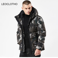 LEOCLOTHO parka men Men' s Hooded Camouflage Cotton Jack...