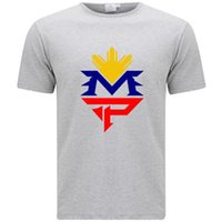 Manny Pacquiao Logo Pacman Pinoy Boxe Champ Hommes T-Shirt Gris Taille S-3XL