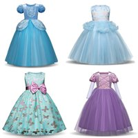 Children Girls Ball Gown Dresses Lace Tutu Bow Butterfly Flo...